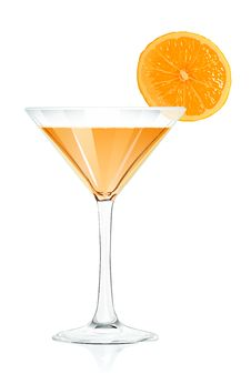 Free Cocktail Glass Orange Royalty Free Stock Images - 15093949