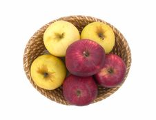 Free Yellow And Red Apples. Stock Image - 15094101