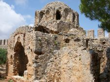 Free Old Byzantine Church In Fortress Alanya Royalty Free Stock Photo - 15094245