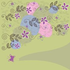 Cute Floral Background Stock Photography
