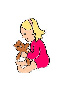 Free Little Girl Is Playing With A Teddy Bear Stock Images - 15096044