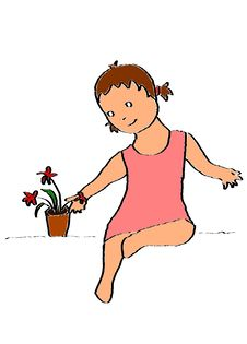 Free LIttle Girl With A Plant Stock Photography - 15096052