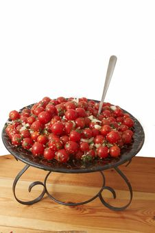 Free Cherry Tomato Salad. Stock Image - 15096701