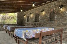 Monastery Dining Table Stock Photo