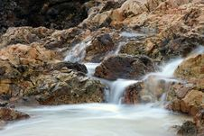 Free Small Waterfall At Beach Royalty Free Stock Image - 15098316