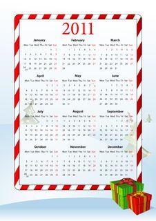 Free Vector Illustration Of European Calendar 2011 Royalty Free Stock Photo - 15098325