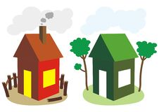Free Ordinary And Environmental Friendly House Royalty Free Stock Photos - 15098418