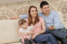 Free Happy Young Family At Home Royalty Free Stock Image - 15098686