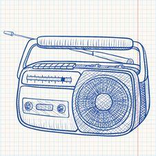 Free Radio Tape Recorder Royalty Free Stock Photo - 15099265