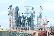 Free Oil Terminal At Industrial Harbour Stock Photography - 15099272
