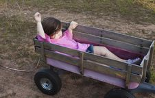 Free Girl In A Wagon Royalty Free Stock Images - 15099579