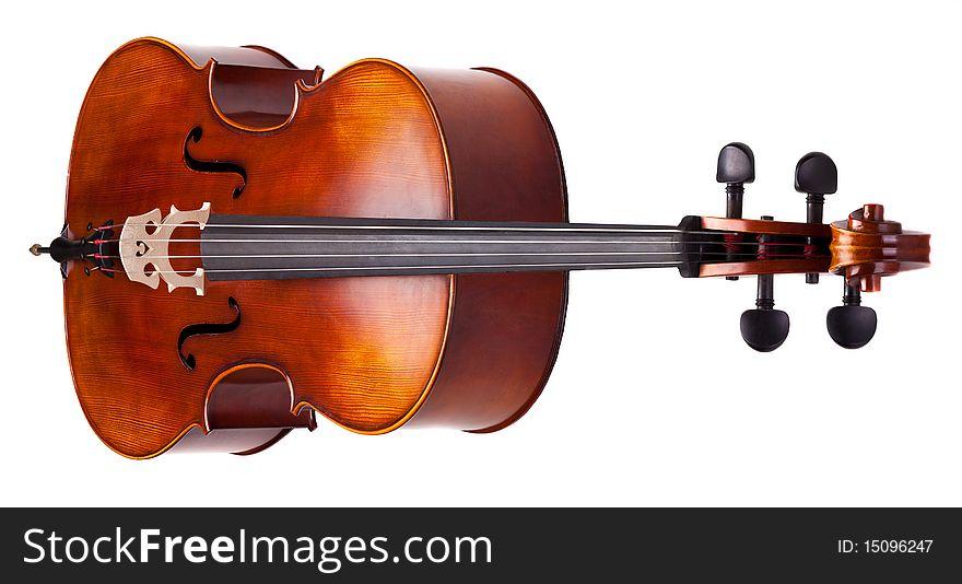 Brown wooden cello