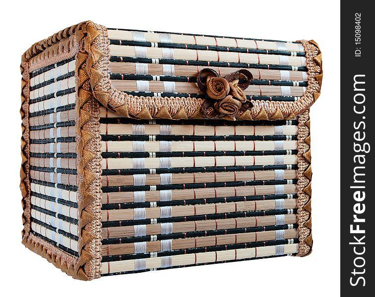 Wicker box for jewelry