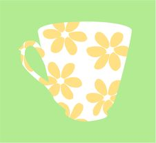 Free Flowered Tea Cup Design Stock Images - 1510974