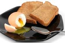 Soft Boiled Egg And Toast Royalty Free Stock Images