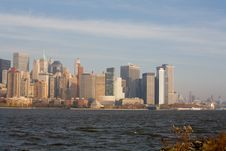 Free New York City Skyline In Fall Sunset Stock Images - 1511154