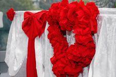 Free Wedding Ribon Heart Stock Image - 1512021