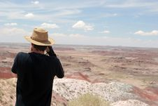Free Photographer At The Painted Desert Stock Photo - 1512260