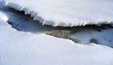 Free Frozen Stream Stock Photography - 1512962
