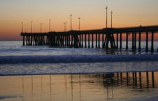 Free Pier At Sunset Royalty Free Stock Photography - 1514017
