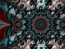 Symmetrical Spiral Fractal Royalty Free Stock Photos