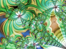 Free Green Wavy Fractal Royalty Free Stock Photography - 1514217