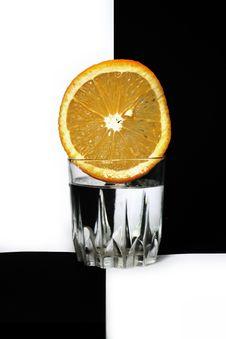 Free Orange In Glass Stock Image - 1515811