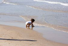 Free Little Girl On The Beach. Stock Photography - 1517412