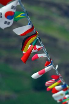 String Of Flags. Royalty Free Stock Photo