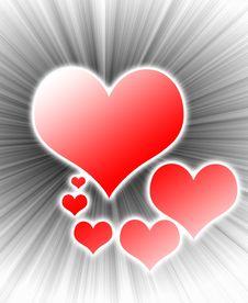 Free Bursting Heart Design Royalty Free Stock Photography - 1519277