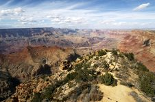 Free Grand Canyon From Yaki Point Royalty Free Stock Images - 1519809