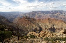 Grand Canyon From Yaki Point Stock Images