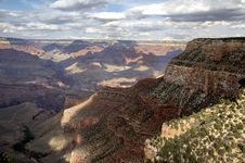 Grand Canyon From Bright Angel Lodge Royalty Free Stock Photos