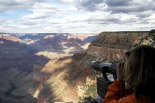 Free Grand Canyon From Bright Angel Lodge Stock Image - 1519911