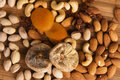 Free Nuts, Fig And Dried Apricots Royalty Free Stock Photo - 15109795
