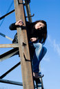 Free Woman On Electrical Tower Stock Photography - 15109852