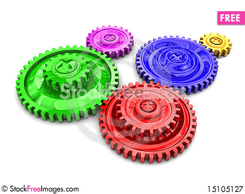 Free Gear Wheels Royalty Free Stock Photography - 15105127