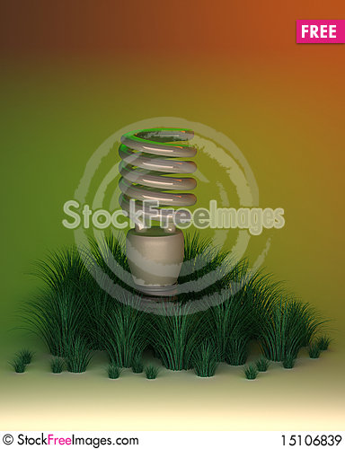Free Environment Friendly Light Bulb Royalty Free Stock Images - 15106839