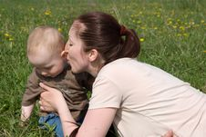 Free Mother And Baby Playing Stock Photography - 15100722