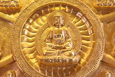 Free Portrait Of A Golden Buddha Statue Thailand Royalty Free Stock Photography - 15100857