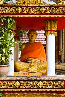 Statue Of Monk Royalty Free Stock Images