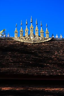 Free Laos Temple Roof2 Stock Image - 15101601