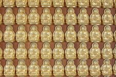 Free Pattern Of Gold Buddha Doll Royalty Free Stock Image - 15101926