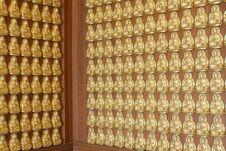 Free Pattern Of Gold Buddha Doll Stock Photography - 15102012
