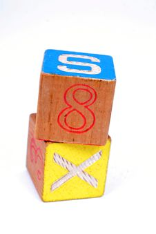 Toy Wooden Blocks Royalty Free Stock Photos