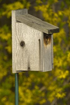 Birdhouse Bird House Wooden Wood Stock Photo