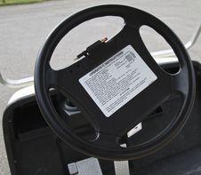 Golf Cart Steering Wheel Stock Photos