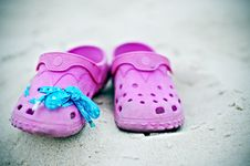 Free Pink Sandals Royalty Free Stock Image - 15103356