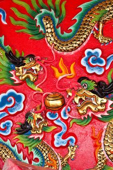 Free On The Wall In Chinese Temple Royalty Free Stock Photography - 15103797