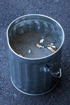 Free Ashtray Cigarrette Bucket Stock Image - 15103971